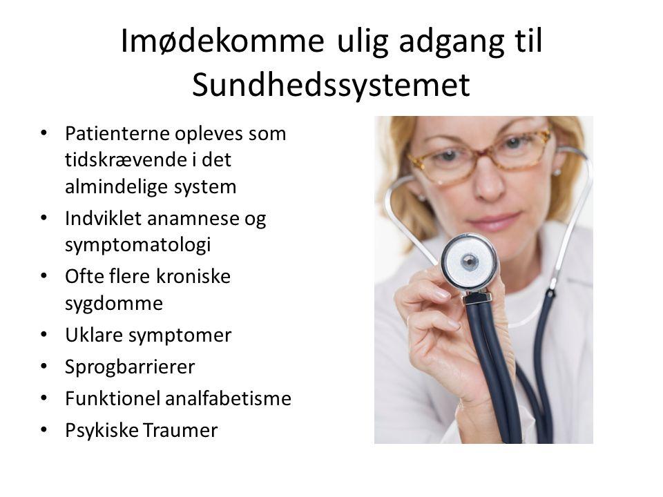 Imødekomme ulig adgang til Sundhedssystemet