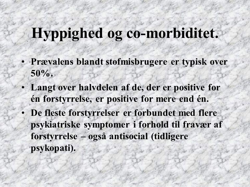 Hyppighed og co-morbiditet.