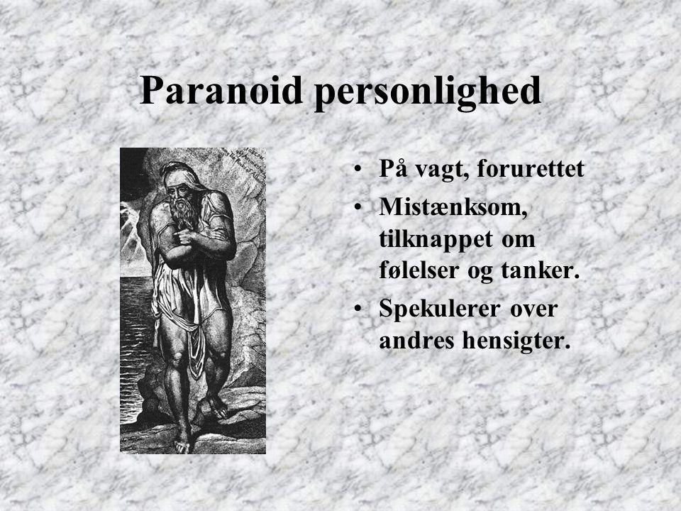 Paranoid personlighed