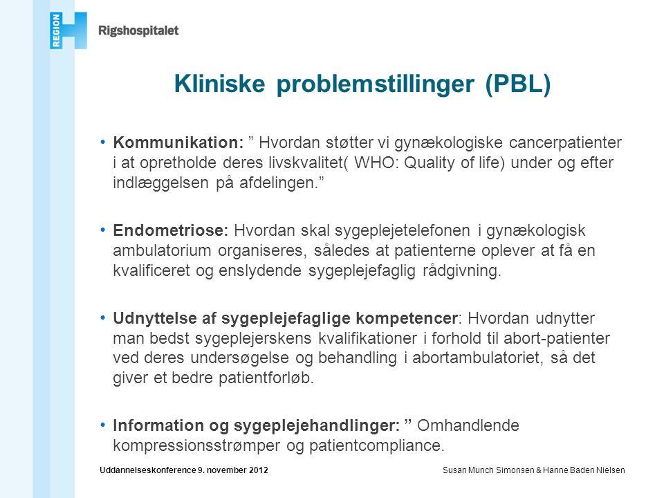 Kliniske problemstillinger (PBL)