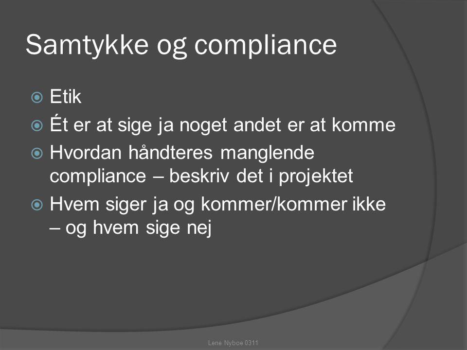 Samtykke og compliance