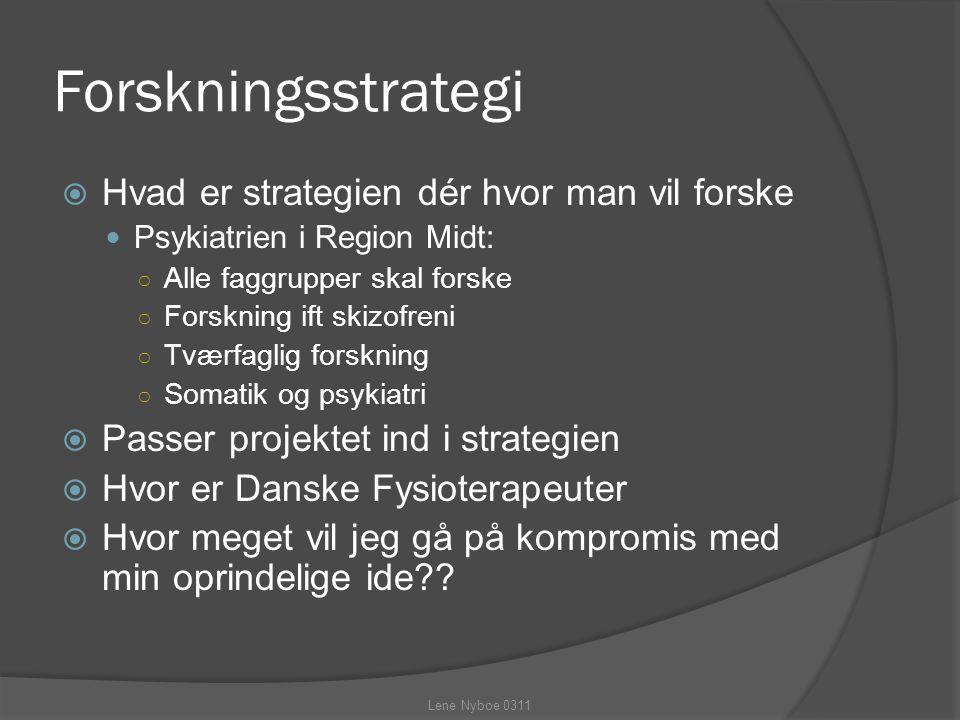 Forskningsstrategi Hvad er strategien dér hvor man vil forske