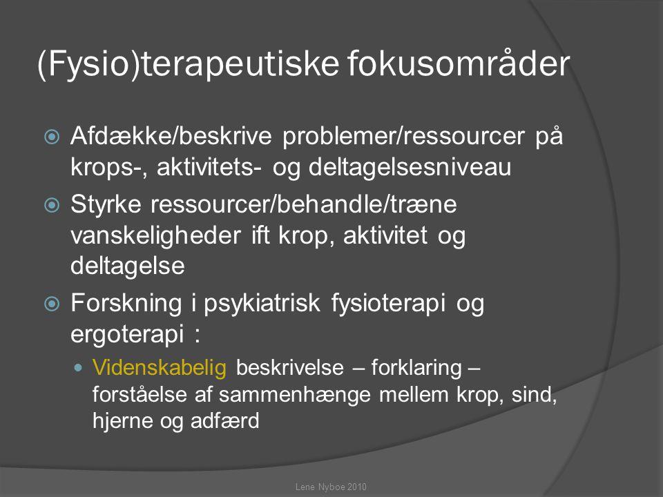 (Fysio)terapeutiske fokusområder