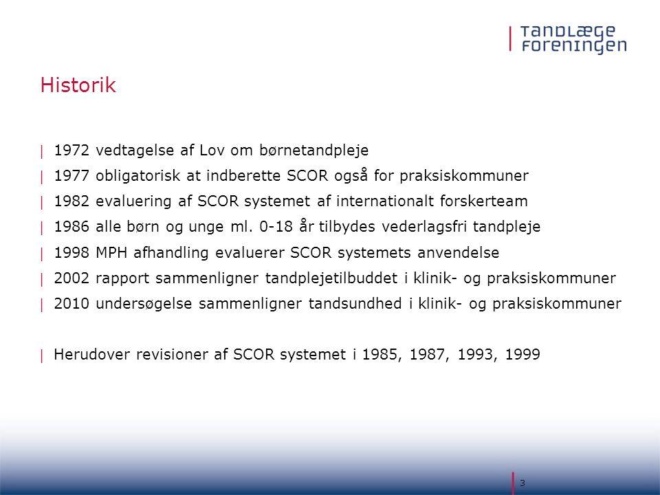 Historik 1972 vedtagelse af Lov om børnetandpleje