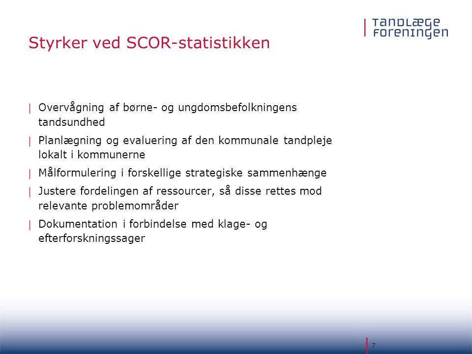 Styrker ved SCOR-statistikken