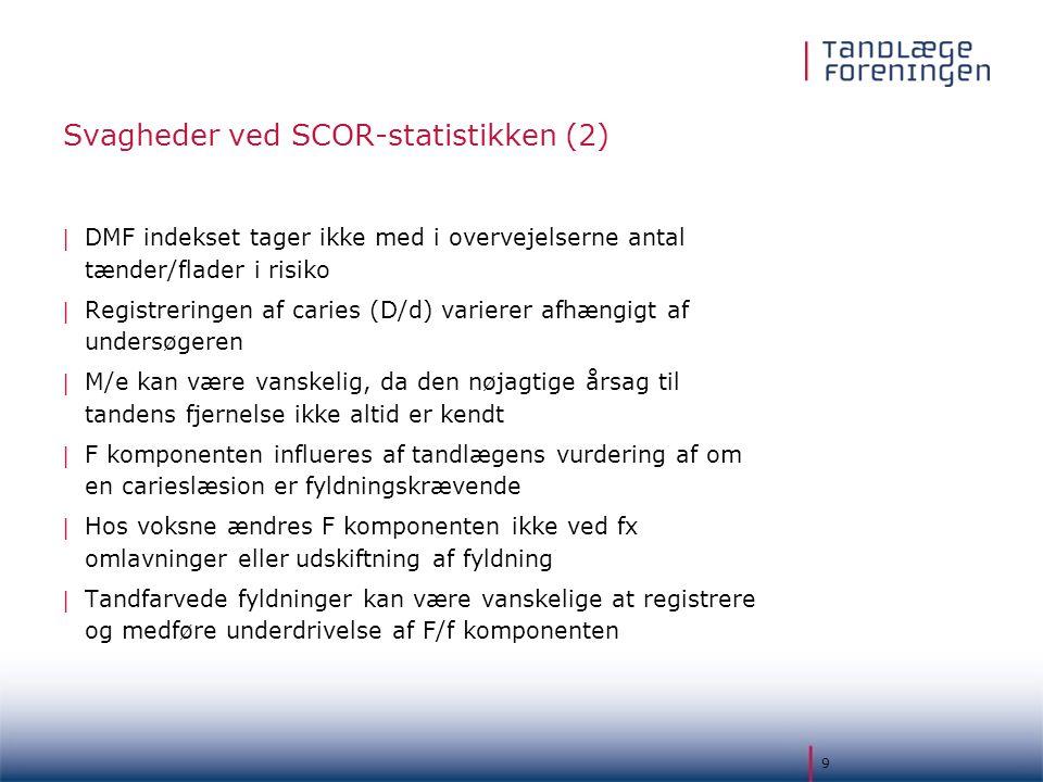 Svagheder ved SCOR-statistikken (2)