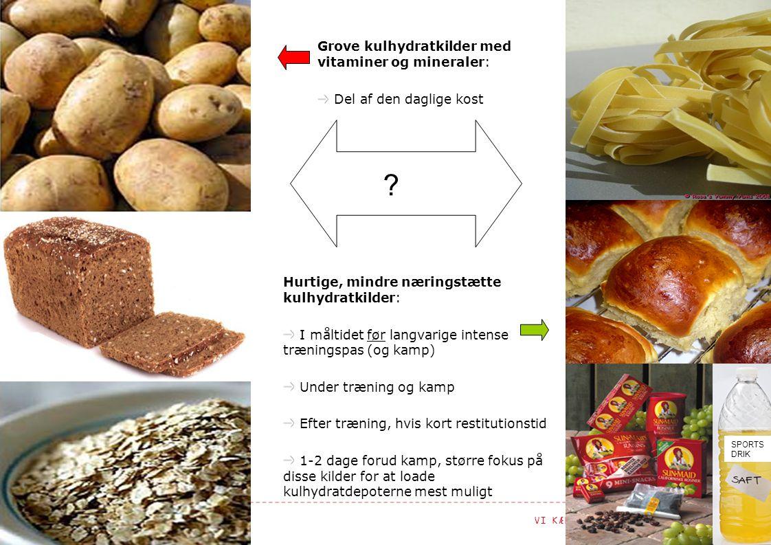 Grove kulhydratkilder med vitaminer og mineraler: