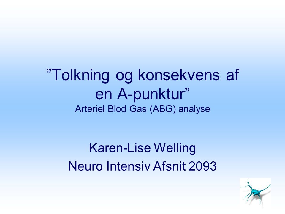 Karen-Lise Welling Neuro Intensiv Afsnit 2093