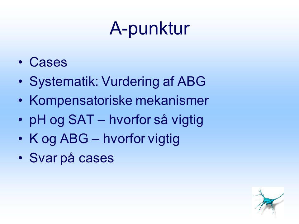 A-punktur Cases Systematik: Vurdering af ABG