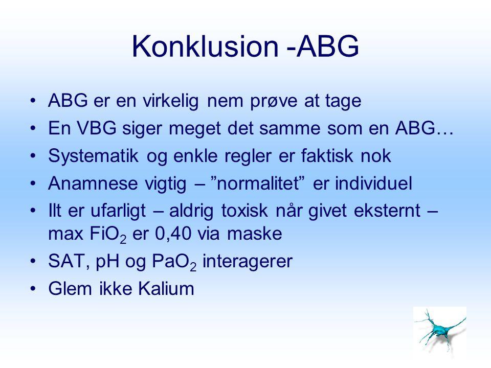 Konklusion -ABG ABG er en virkelig nem prøve at tage