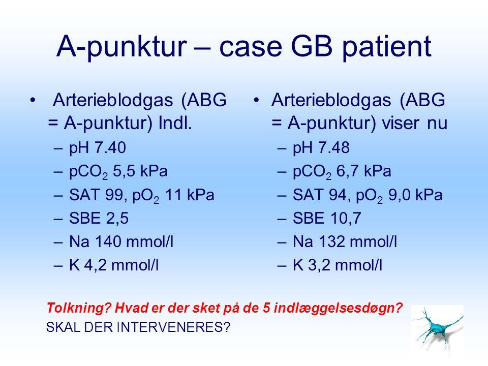 A-punktur – case GB patient