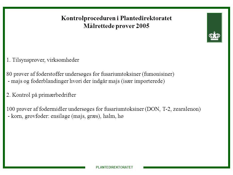 Kontrolproceduren i Plantedirektoratet Målrettede prøver 2005