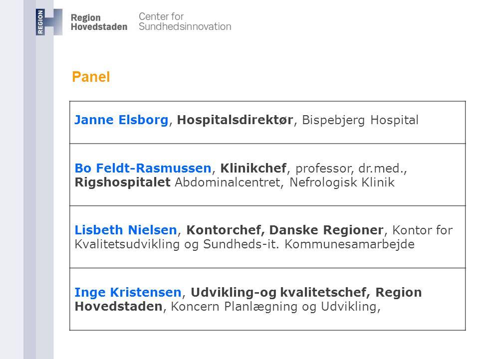 Panel Janne Elsborg, Hospitalsdirektør, Bispebjerg Hospital