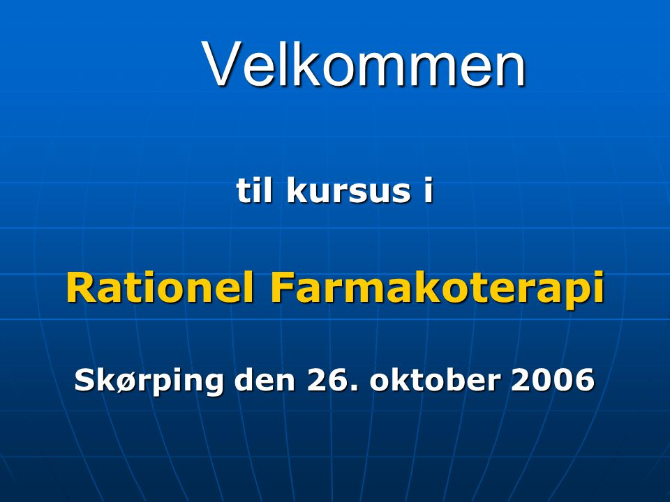 Rationel Farmakoterapi