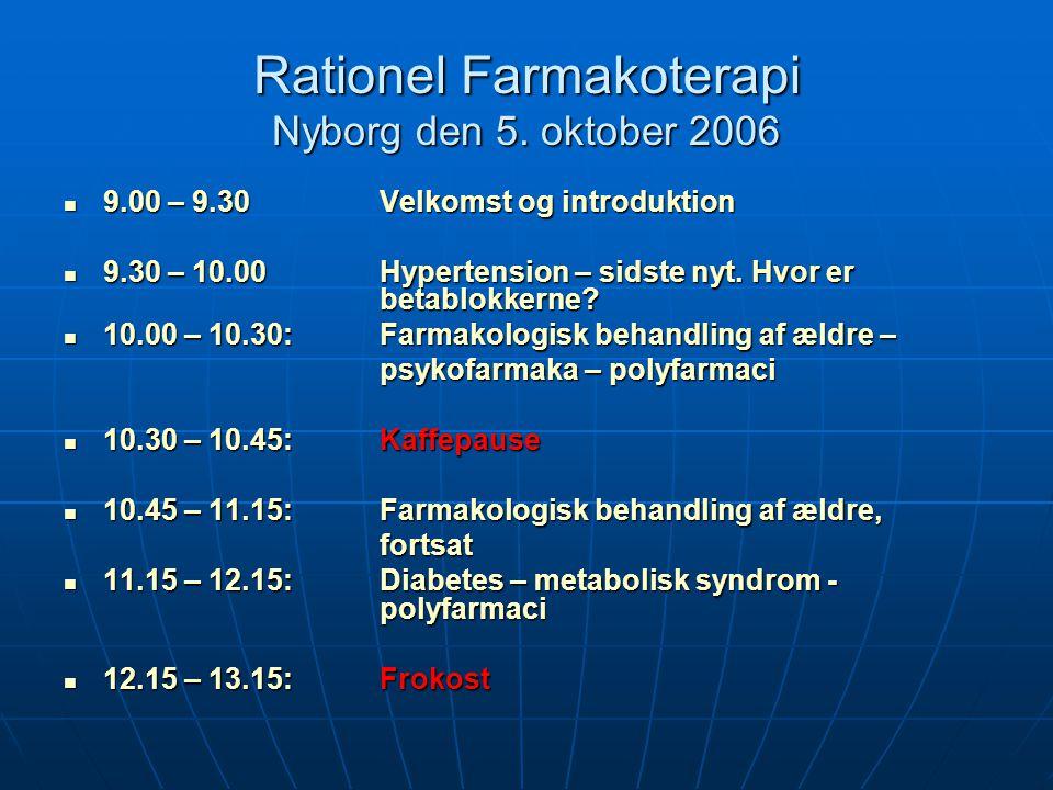Rationel Farmakoterapi Nyborg den 5. oktober 2006