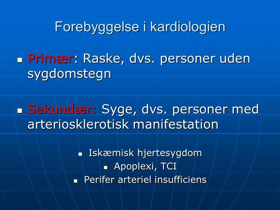 Forebyggelse i kardiologien
