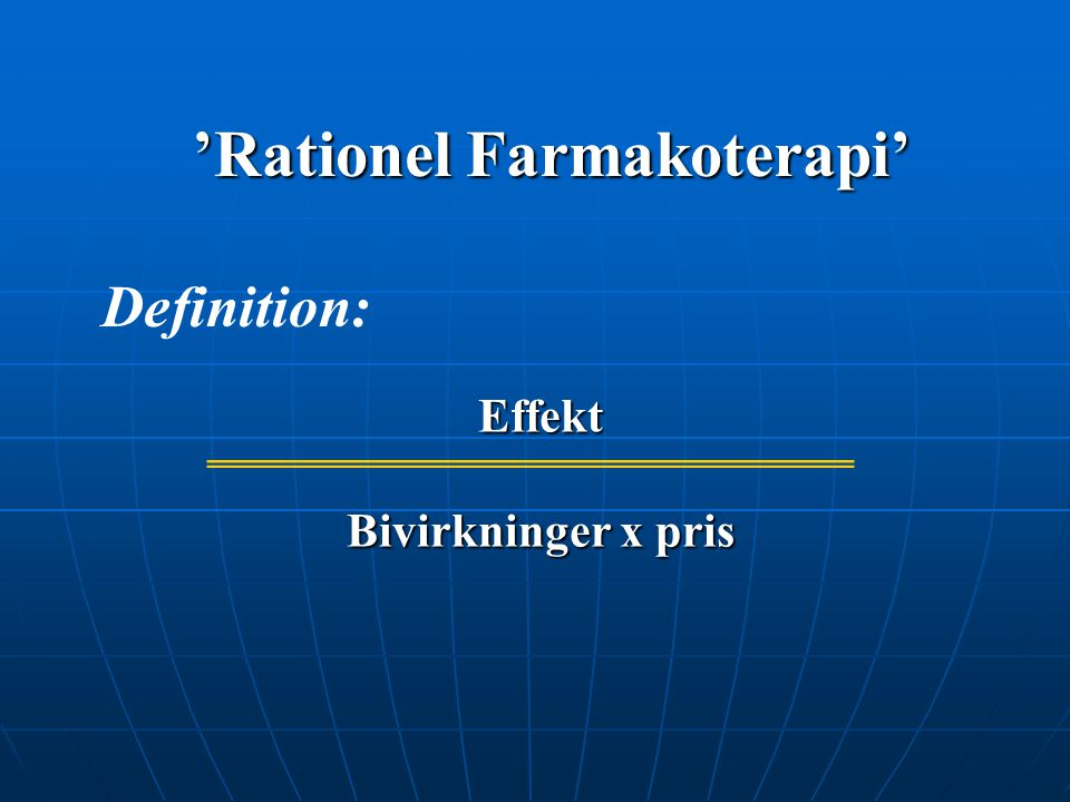 'Rationel Farmakoterapi'
