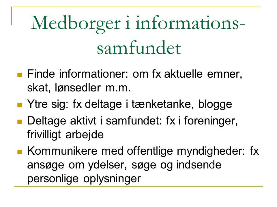 Medborger i informations- samfundet