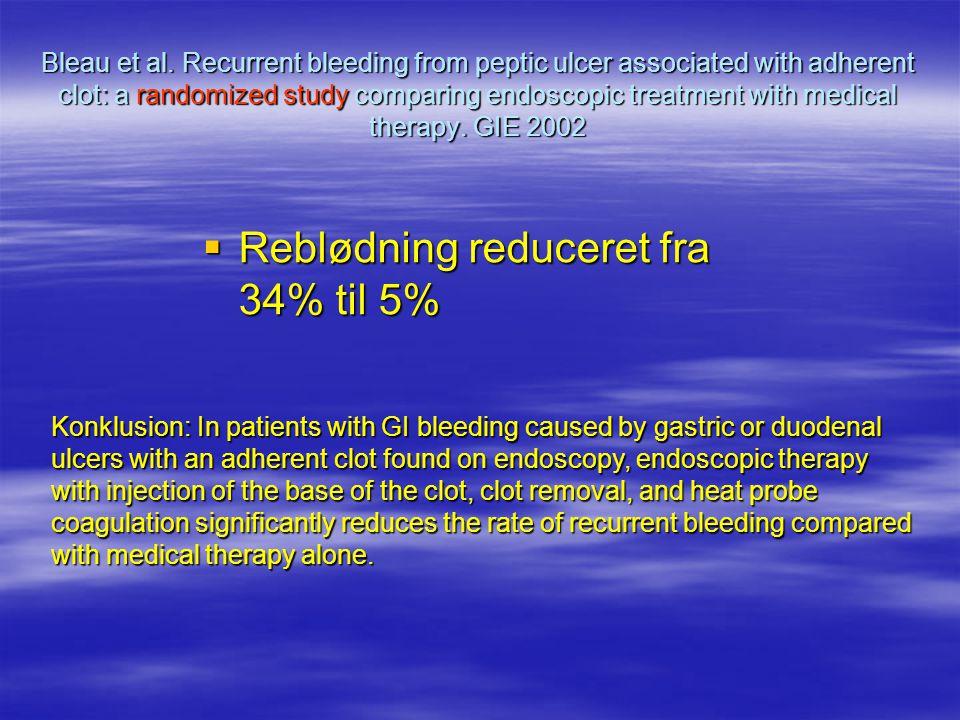 Reblødning reduceret fra 34% til 5%