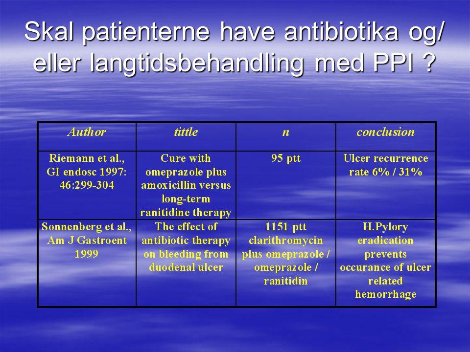 Skal patienterne have antibiotika og/ eller langtidsbehandling med PPI