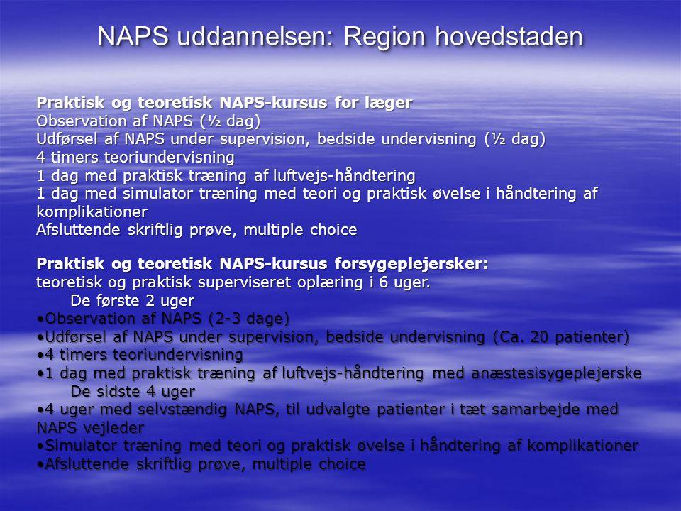 NAPS uddannelsen: Region hovedstaden