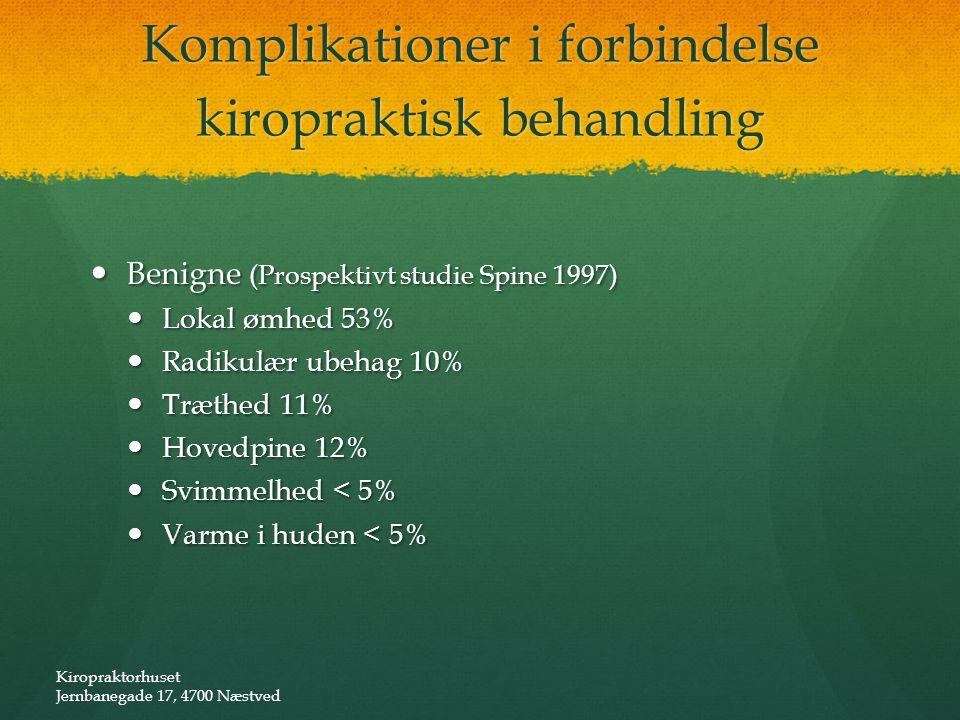 Komplikationer i forbindelse kiropraktisk behandling