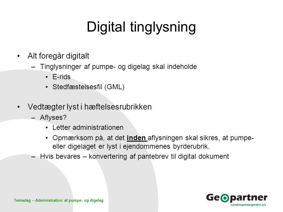 Digital tinglysning Alt foregår digitalt