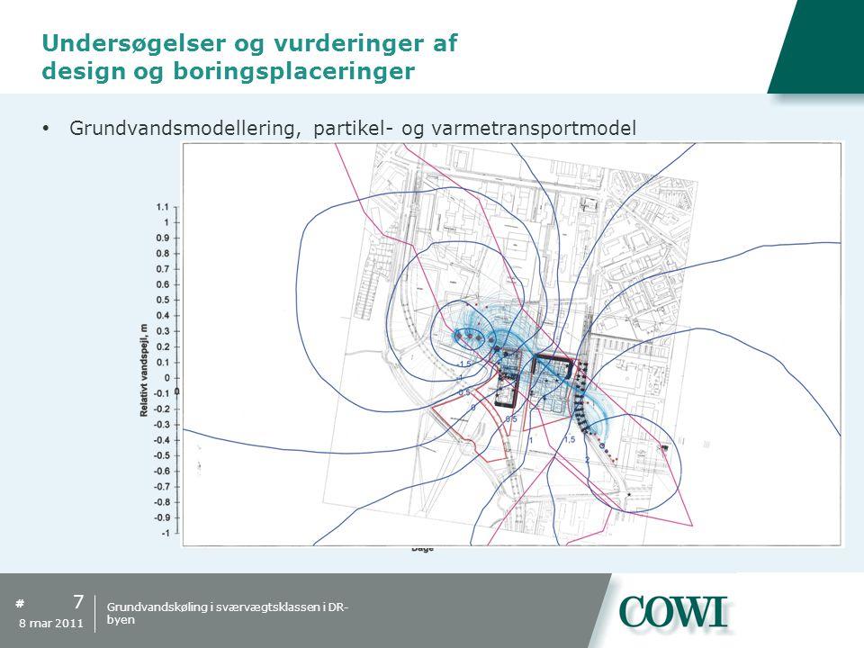 Undersøgelser og vurderinger af design og boringsplaceringer