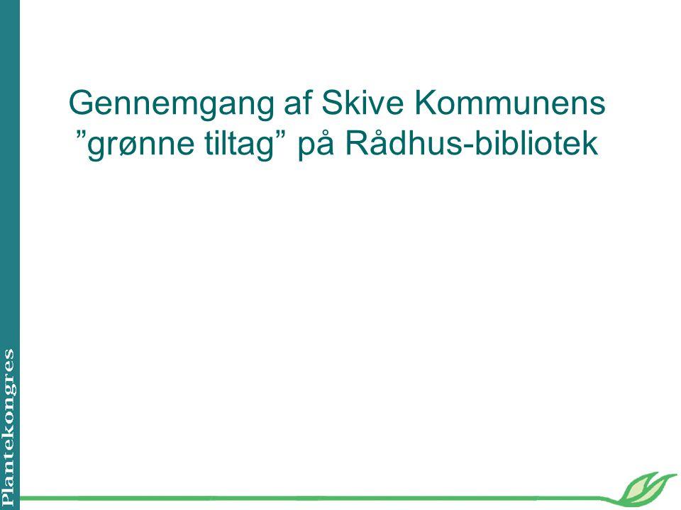 Gennemgang af Skive Kommunens grønne tiltag på Rådhus-bibliotek