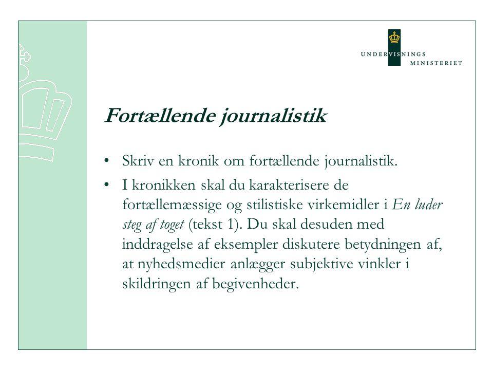 Fortællende journalistik