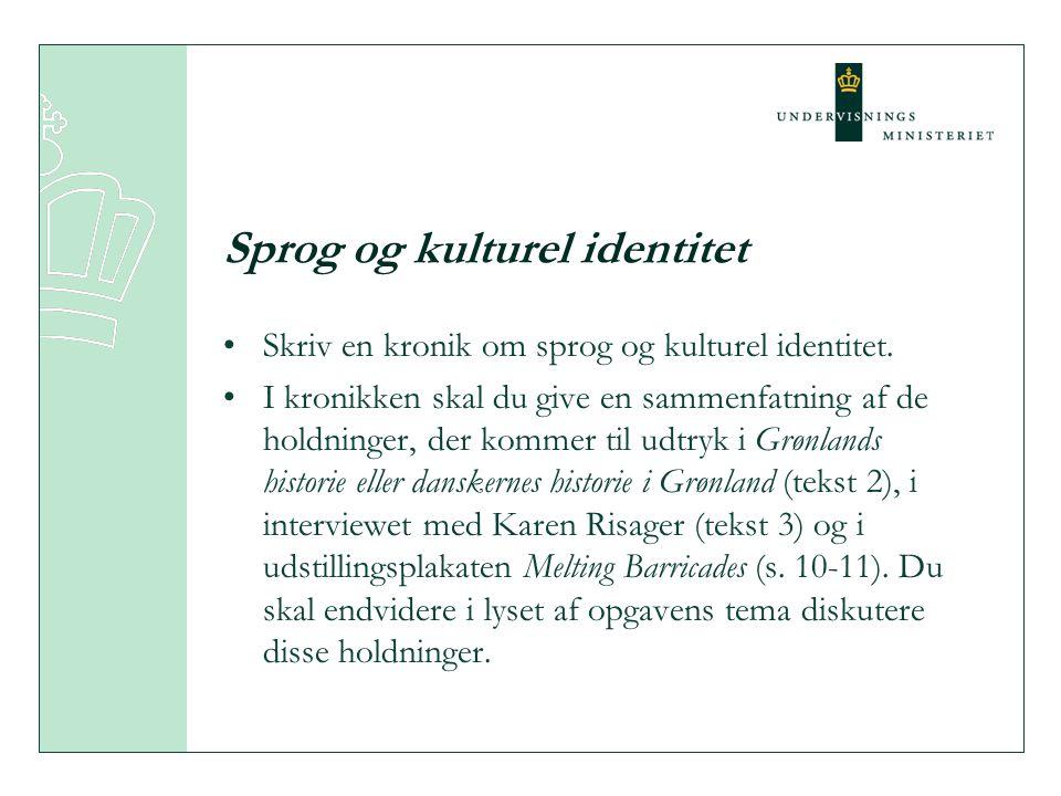 Sprog og kulturel identitet
