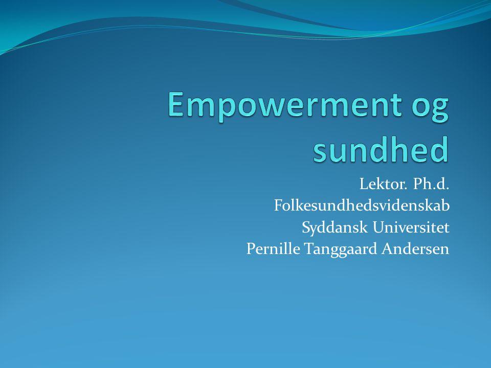 Empowerment og sundhed