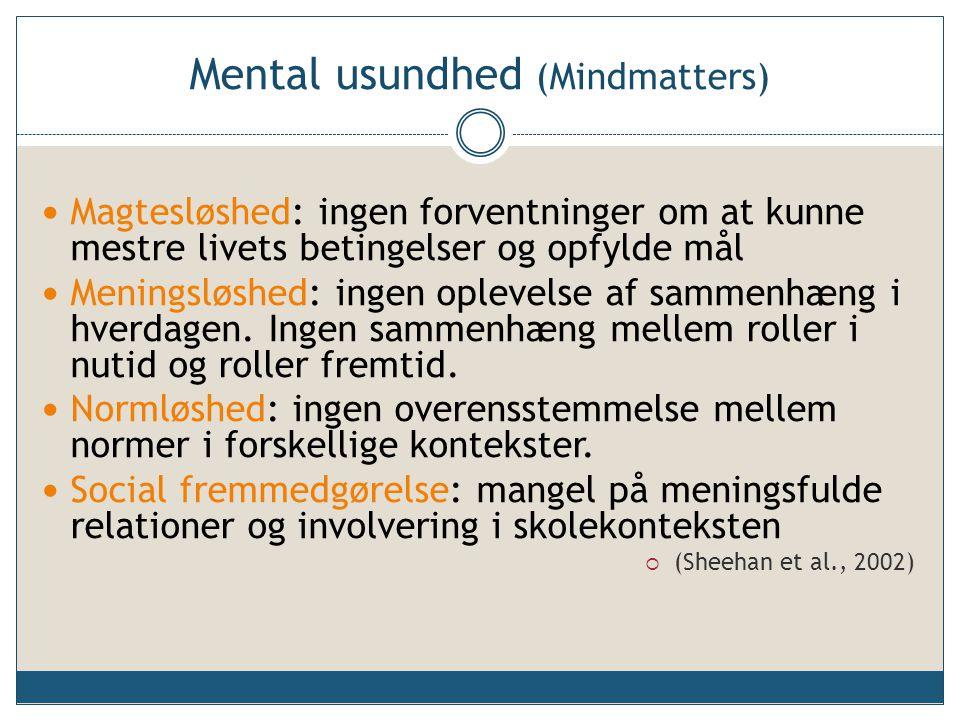 Mental usundhed (Mindmatters)