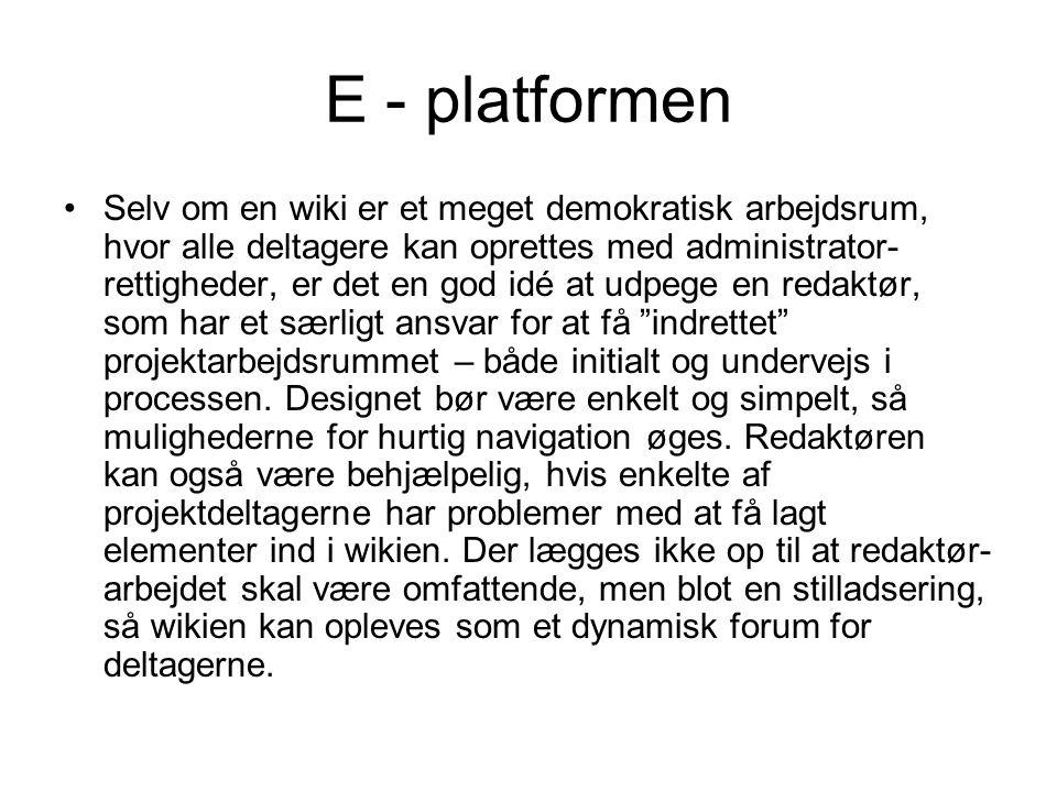 E - platformen
