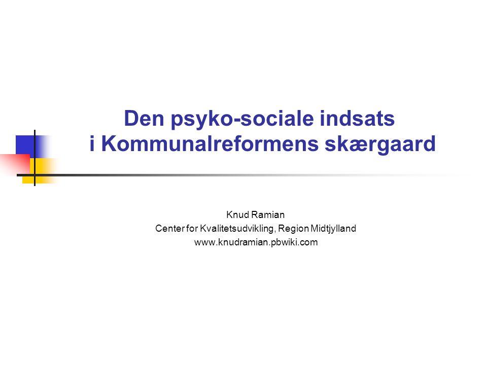 Den psyko-sociale indsats i Kommunalreformens skærgaard