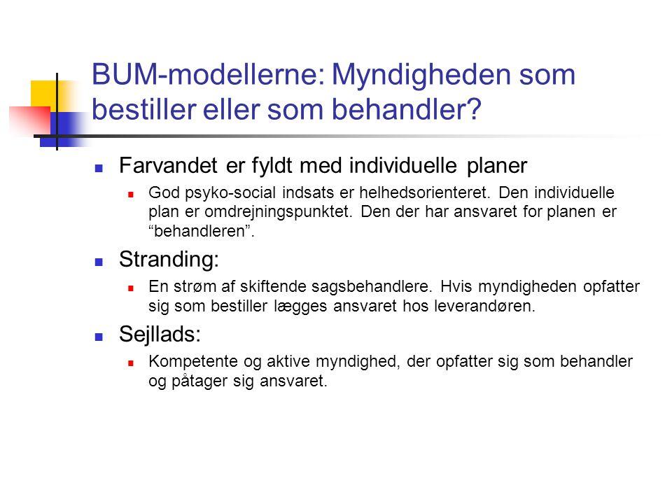 BUM-modellerne: Myndigheden som bestiller eller som behandler