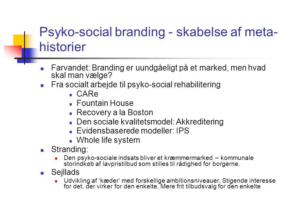 Psyko-social branding - skabelse af meta-historier