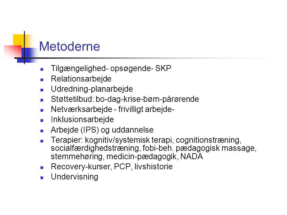 Metoderne Tilgængelighed- opsøgende- SKP Relationsarbejde