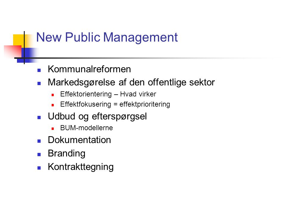 New Public Management Kommunalreformen