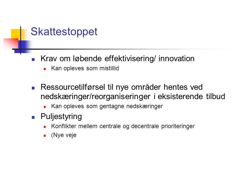 Skattestoppet Krav om løbende effektivisering/ innovation