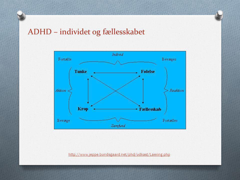 ADHD – individet og fællesskabet