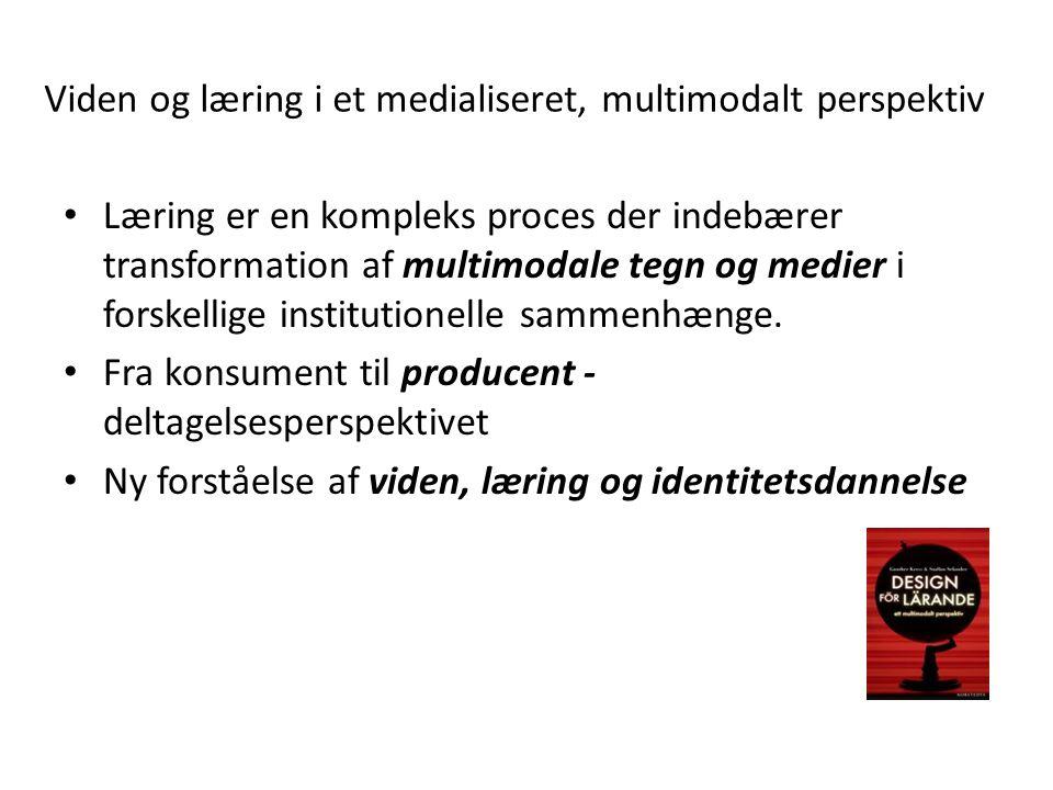 Viden og læring i et medialiseret, multimodalt perspektiv