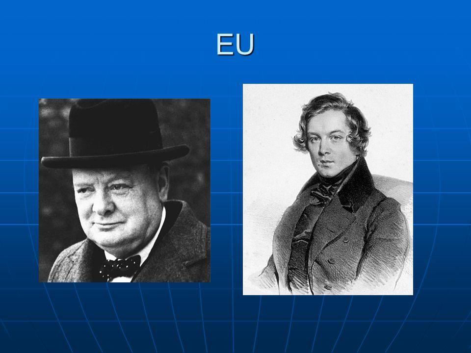 EU Det var Winston Churchill i 1946 som sagde at Europa måtte stå sammen og forhindre at der udbød en ny verdenskrig i EU.