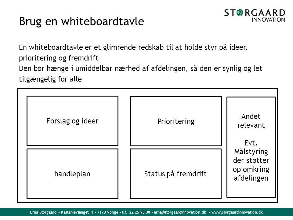 Brug en whiteboardtavle