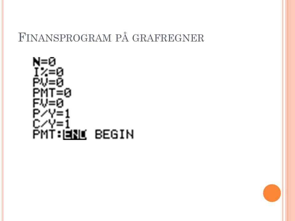 Finansprogram på grafregner