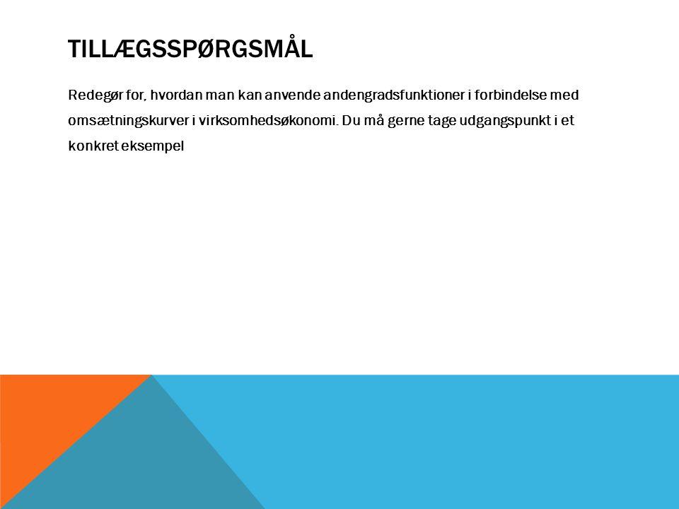 TILLÆGSSPØRGSMÅL