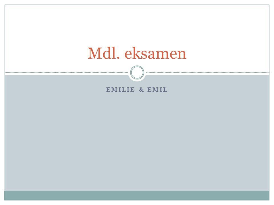 Mdl. eksamen Emilie & Emil