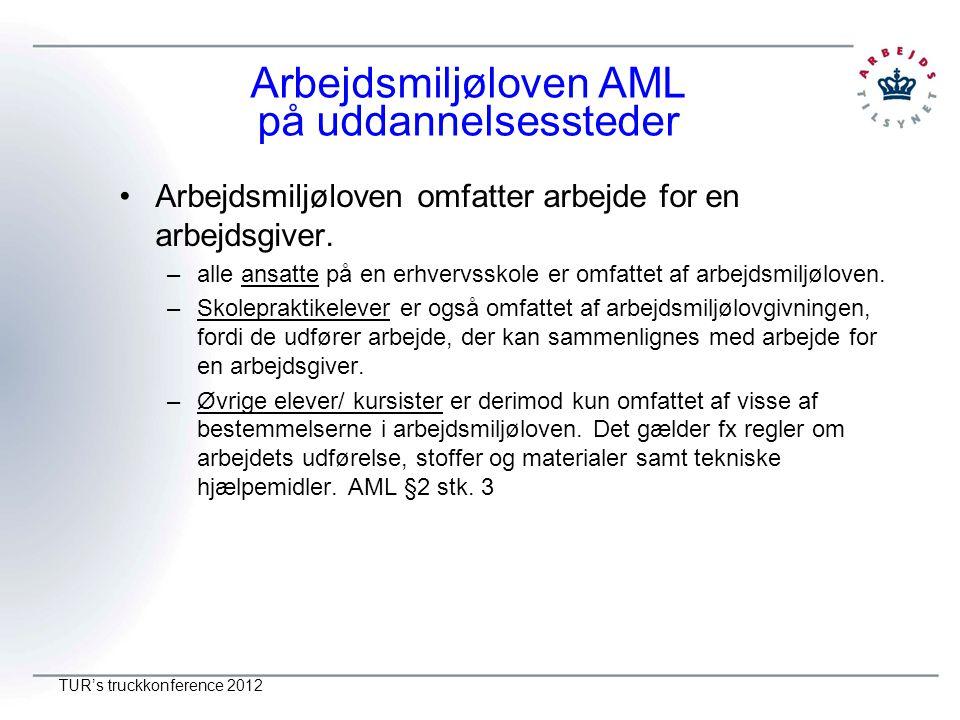 Arbejdsmiljøloven AML på uddannelsessteder