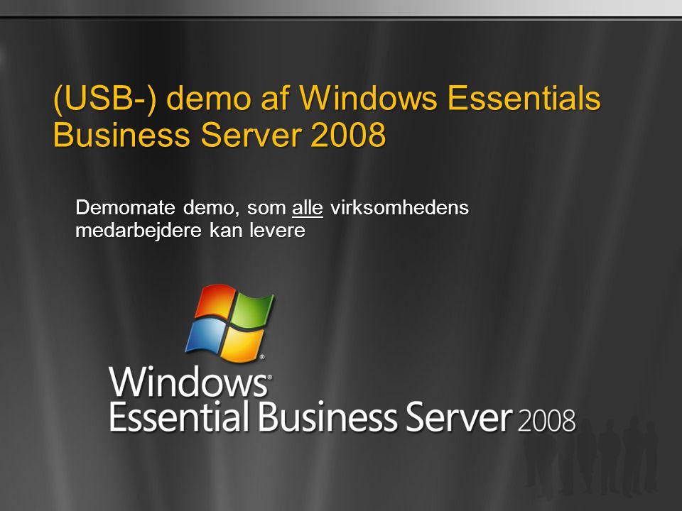 (USB-) demo af Windows Essentials Business Server 2008