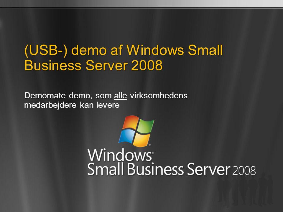 (USB-) demo af Windows Small Business Server 2008
